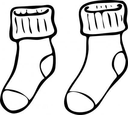 free vector Clothing Pair Of Haning Socks clip art