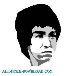 free vector Bruce Lee