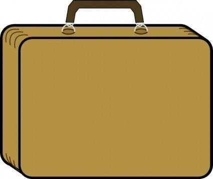 free vector Little Tan Suitcase clip art