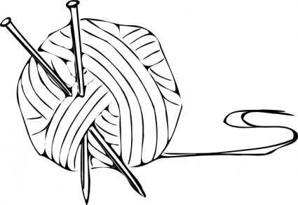 free vector Knitting Yarn Needles clip art