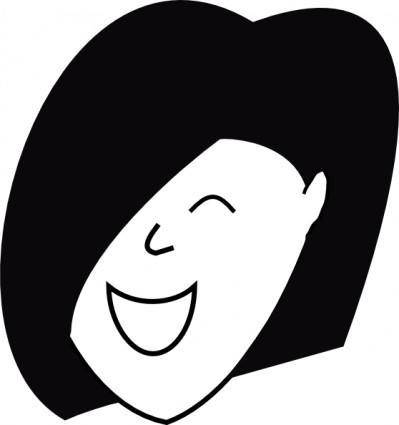 free vector Happy Woman clip art