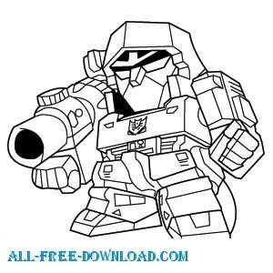 free vector Megatron Deformed
