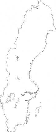 free vector Map Of Sweden clip art