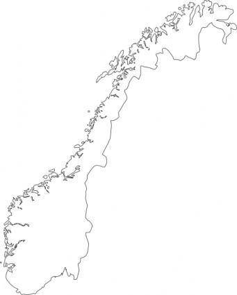 free vector Map Of Norway clip art