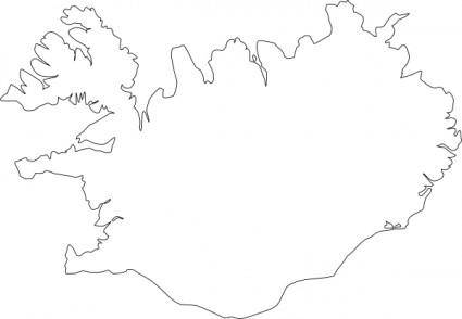 free vector Map Of Iceland clip art