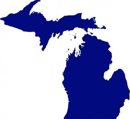 free vector State Of Michigan clip art