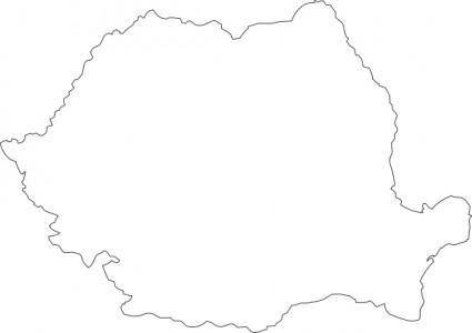 Romania Map Contour clip art