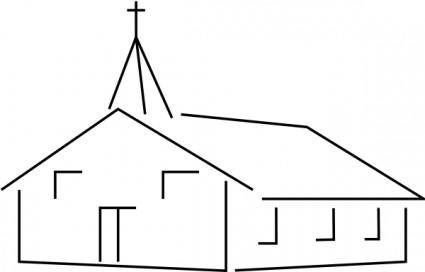 Church Building 01 clip art