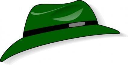 Clothing Green Hat clip art