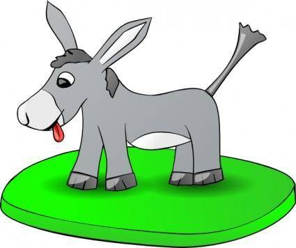 Donkey On A Plate clip art