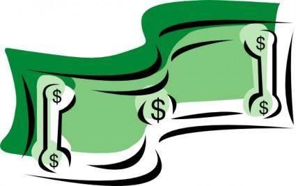 Stylized Dollar Bill Money clip art