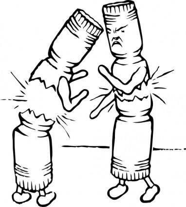Fighting Crackers clip art