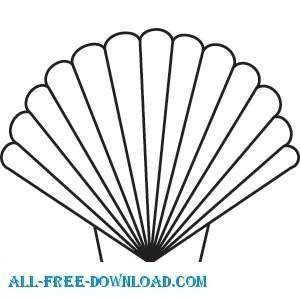 free vector Scallop Shell