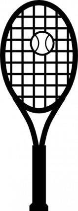 free vector Tennis Racket And Ball clip art