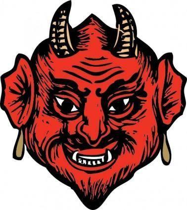 Devil Head clip art