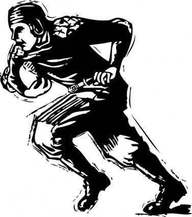 Old Time Football Player clip art