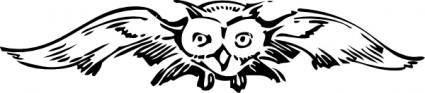 Front View Owl clip art