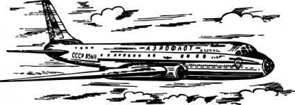 Tu Airplane clip art