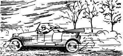 free vector Speeding Car clip art