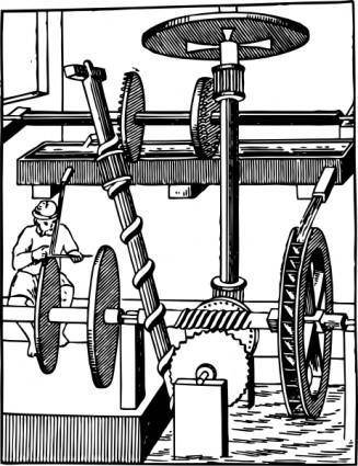 Perpetual Motion Device Using Water clip art