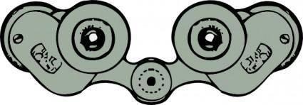 Binoculars Rear View clip art