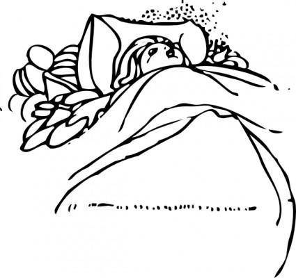 free vector Child Sleeping clip art