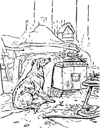 free vector Waiting Dog clip art
