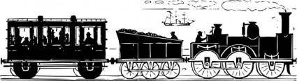 free vector Th Century Train clip art