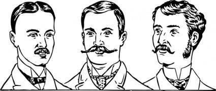 free vector Mens Hair Styles Circa clip art