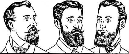Mens Hair Styles Circa clip art