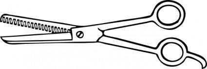 One Blade Thinning Shears clip art