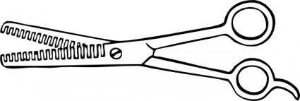Two Blade Thinning Shears clip art