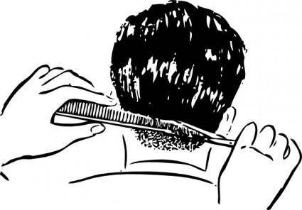 free vector Shears And Comb clip art