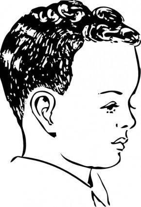 free vector Medium Haircut With Natural Curls clip art
