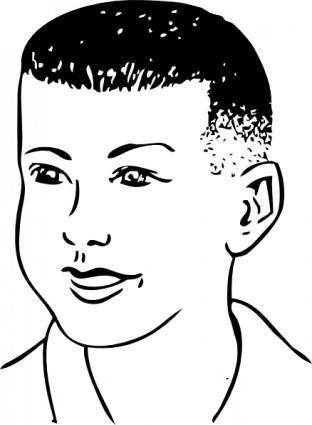 Short Haircut Combed Forward clip art