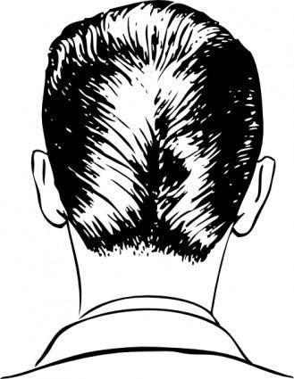 D A Haircut Rear View clip art