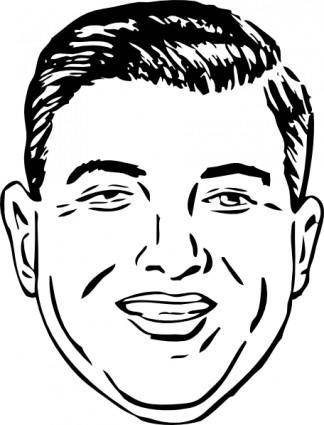 Short Round Face clip art