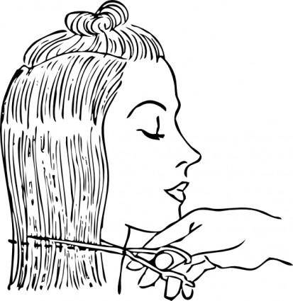 Cutting Woman S Hair clip art