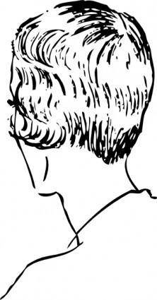 free vector Woman S Bob Haircut Rear clip art