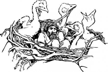Man In A Bird S Nest clip art