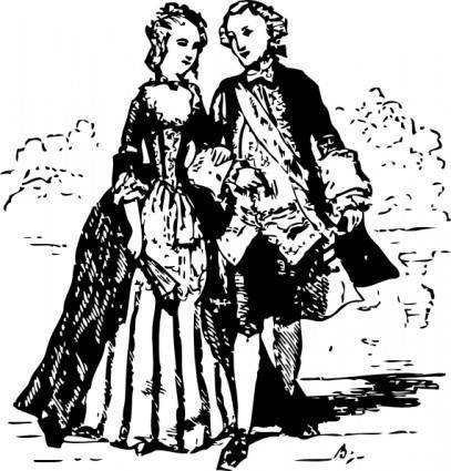 Th Century Couple clip art