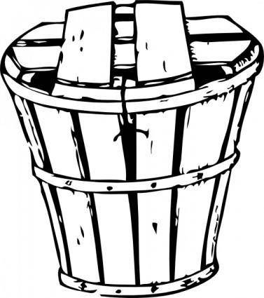 Half Bushel Basket With Cover clip art