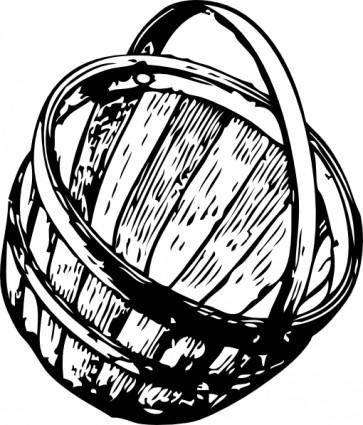 Half Bushel Picking Basket clip art
