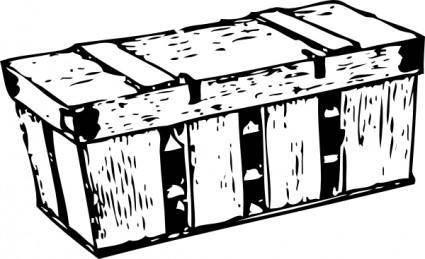 Six Basket Nesting Crate clip art
