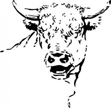 free vector Bull Head clip art