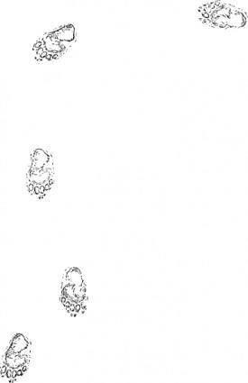 Bear Prints clip art
