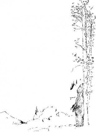 free vector Bear Scratches Back clip art
