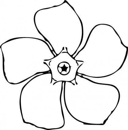 free vector Periwinkle Flower Top View clip art