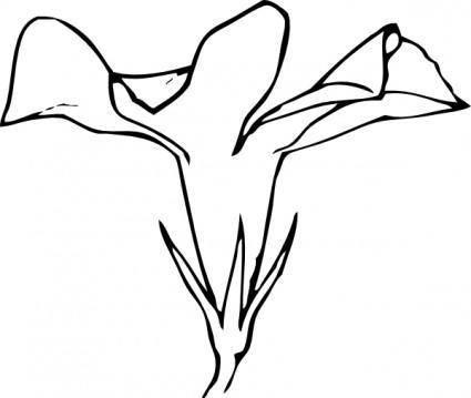 Periwinkle Flower Side View clip art