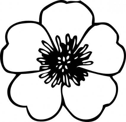 free vector Buttercup Flower clip art